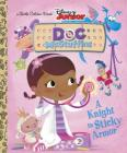 A Knight in Sticky Armor (Disney Junior: Doc McStuffins) (Little Golden Book) Cover Image