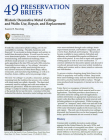 Historic Decorative Metal Ceilings and Walls: Use, Repair, and Replacement Cover Image