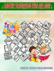 Winter Travelling Kids All Ages: Image Quiz Words Activity And Coloring Book 50 Coloring Train, Souvenir, Fireplace, Suitcase, Scarf, Mulled Wine, Cab Cover Image