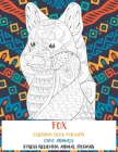 Cute Animals Coloring Book for Kids - Stress Relieving Animal Designs - Fox Cover Image