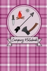 Camping notebook For Mums: Pink Plaid Effect Notepad For Moms Cover Image