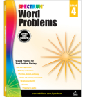 Spectrum Word Problems, Grade 4 Cover Image