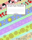 Graph Paper Notebook: Fun pattern; 4 squares per inch; 50 sheets/100 pages; 8