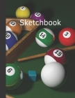 Sketchbook: Composite Notebook for Your Ideas, Drawing, Writing, Painting and Sketching, 110 Pages, (Large 8.5x11) (Sport Edition) Cover Image