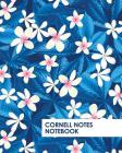 Cornell Notes Notebook: Pretty Blue Tropical Flowers Notebook Supports a Proven Way to Improve Study and Information Retention. Cover Image