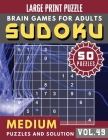 Sudoku Medium: sudoku puzzle books one per page - Sudoku puzzle for memory Sudoku Quest for Adults & Seniors and Sudoku Solver (Sudok Cover Image