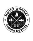 Mount Whitney Sierra Nevada: Notebook For Camping Hiking Fishing and Skiing Fans. 7.5 x 9.25 Inch Soft Cover Notepad With 120 Pages Of College Rule Cover Image