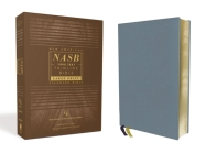 Nasb, Thinline Bible, Large Print, Genuine Leather, Buffalo, Blue, Red Letter Edition, 1995 Text, Comfort Print Cover Image