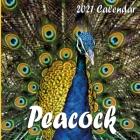 Peacock Calendar 2021: Peacock 2021 Mini Wall Calendar 16 Months Cover Image