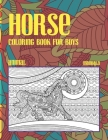 Mandala Coloring Book for Boys - Animal - Horse Cover Image