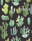 2021-2022 Monthly Planner: Large Two Year Planner with Beautiful Cactus Cover Cover Image