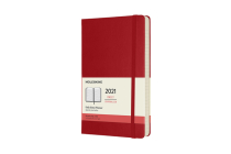 Moleskine 2021 Daily Planner, 12M, Large, Scarlet Red, Hard Cover (5 x 8.25) Cover Image