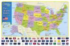 National Geographic: The United States for Kids Wall Map - Laminated (24 X 36 Inches) Cover Image
