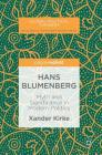 Hans Blumenberg: Myth and Significance in Modern Politics (Global Political Thinkers) Cover Image