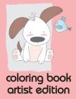 coloring book artist edition: Christmas Book from Cute Forest Wildlife Animals Cover Image