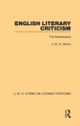 English Literary Criticism: The Renascence Cover Image