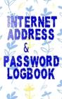 Password Logbook Small: Password Log Book Pretty Navy Blush Pink Size 5x8