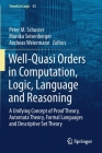 Well-Quasi Orders in Computation, Logic, Language and Reasoning: A Unifying Concept of Proof Theory, Automata Theory, Formal Languages and Descriptive (Trends in Logic #53) Cover Image
