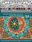 Malbucher fur Erwachsene Mond-und Sternenmandala: Mandalas & Malvorlagen mit Formen, die den Geist entspannen Kunsttherapie mit Malvorlagen fur Erwach Cover Image