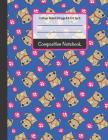 Composition Notebook: Pugs and Paws College Ruled Notebook for Girls, Kids, School, Students and Teachers Cover Image