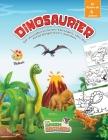 dinosaurier malbuch für kinder ab 4 jahren: 50 wunderschöne Designs, die Ihr Kind begeistern werden. Kinder malbuch. Dinosaurier malbuch kinder. Malvo Cover Image
