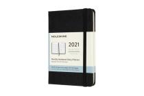 Moleskine 2021 Monthly Planner, 12M, Pocket, Black, Hard Cover (3.5 x 5.5) Cover Image