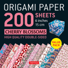 Origami Paper 200 Sheets Cherry Blossoms 6