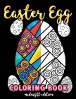 Easter Egg Coloring Book Midnight Edition: A Black Background Easter Coloring Book for Toddlers, Kids, Teens and Adults This Spring filled with a Bask Cover Image
