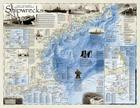 Shipwrecks of the Northeast [folded and Polybagged] (National Geographic Reference Map) Cover Image