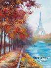 2021-2025 Five Year Planner: Large 60-Month Monthly Planner with Hardcover (Eiffel Tower) Cover Image