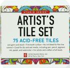 Studio Series Artist's Tiles: White: 75 Acid-Free White Tiles Cover Image