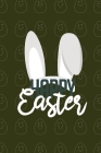 Happy Easter II Notebook, Blank Write-in Journal, Dotted Lines, Wide Ruled, Medium (A5) 6 x 9 In (Green II) Cover Image