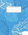Composition Notebook: Seashell Marine Aquatic Life School Notebook with Wide Ruled Paper for Middle, Elementary, High School and College Cover Image