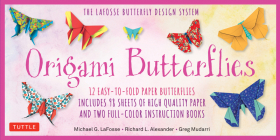 Origami Butterflies Kit: The Lafosse Butterfly Design System - Kit Includes 2 Origami Books, 12 Projects, 98 Origami Papers: Great for Both Kid Cover Image
