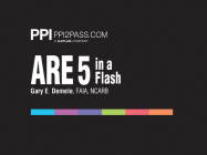 PPI2PASS ARE 5 in a Flash: Rapid Review of Key Topics, 1st Edition (Cards) – More Than 400 Architecture Flashcards Cover Image