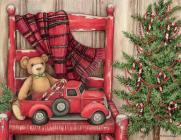 Bear in a Chair Boxed Christmas Cards Cover Image