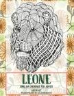Libri da colorare per adulti - Principiante di rilassamento - Animale - Leone Cover Image