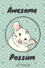 Opossum a notebook and daily gifts: AWESOME OPOSSUM/Composition Notebook: Great idea for opossums Lovers Cute Little ... Notes... for Girls, Kids, Sch Cover Image