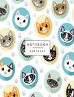 Notebook cutie cat: Cute cats cover and Dot Graph Line Sketch pages, Extra large (8.5 x 11) inches, 110 pages, White paper, Sketch, Draw a Cover Image