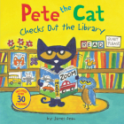 Pete the Cat Checks Out the Library Cover Image