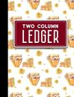 Two Column Ledger: Accountant Notepad, Accounting Paper, Ledger Notebook, 8.5