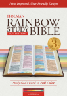 KJV Rainbow Study Bible, Maroon LeatherTouch, Indexed Cover Image
