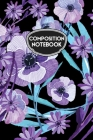 Composition Notebook: Black and Purple Watercolor Floral Cover Image