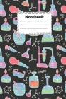 Notebook: pharmacy technician with decorative color hand drawn chemical lab scientific experiment on black background: pharmacy Cover Image