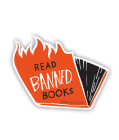 Banned Bks Sticker (Flames) Cover Image