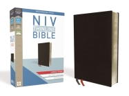 NIV, Thinline Bible, Large Print, Bonded Leather, Black, Red Letter Edition Cover Image