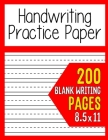 Handwriting Practice Paper For Kids Cover Image