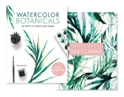 Watercolor Botanicals (2 Books in 1): 20 Prints to Paint and Frame Cover Image