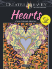 Creative Haven Hearts Coloring Book: Romantic Designs on a Dramatic Black Background (Creative Haven Coloring Books) Cover Image