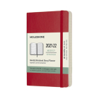 Moleskine 2021-2022 Weekly Planner, 18M, Pocket, Scarlet Red, Soft Cover (3.5 x 5.5) Cover Image